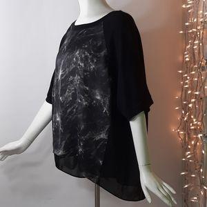 Plus 4X Michael Kors Black Gray Combo Knit Hi Lo